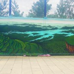 The Orchard - external fence mural